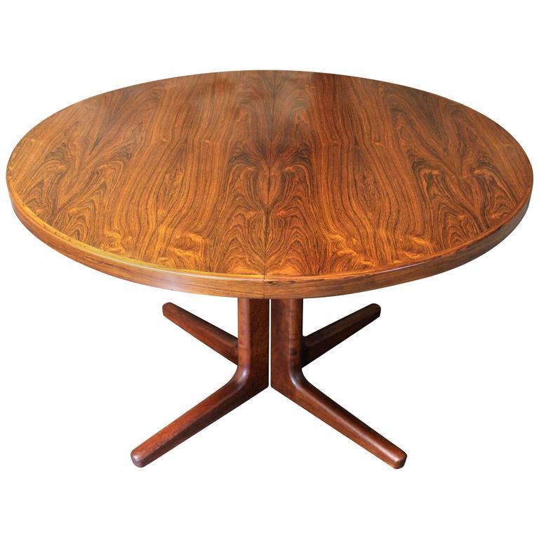 Superb Erik Buck Brazilian Rosewood Dining Table For CJ Rosengaarden, Danish  Modern 1