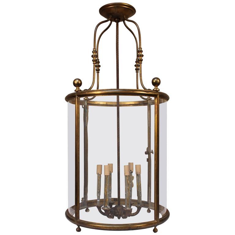 French, Louis XVI Style Bronze Lantern