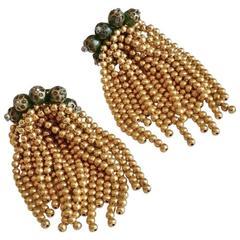 Paris House London Jewellery, Pair of Earrings, 1950s, English