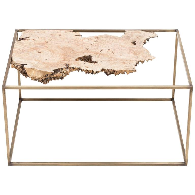 Bronze and Wood Side Table or Sculpture by Huy Bui For Sale