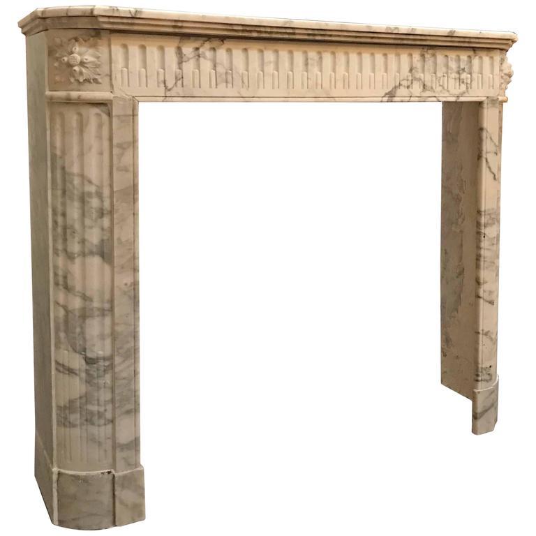 antique louis xvi style marble mantel circa 1880 at 1stdibs