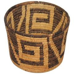 19th Century Geometric Papago Indian Basket