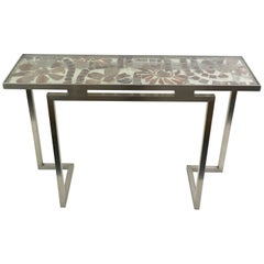 Marie Claude de Fouquieres Resin and Stainless Steel Console