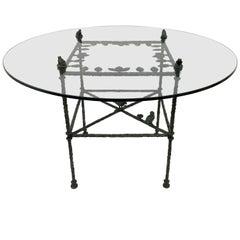 "Diego Giacometti ""Table, Feuille aux Oiseaux et Grenouilles"""