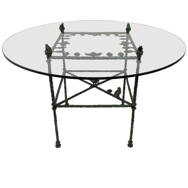 "Diego Giacometti ""Table, Feuille aux Oiseaux et Grenouilles"" For Sale"