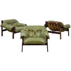 Percival Lafer Mid-Century Rosewood Lounge Chairs 1960s