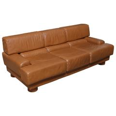 Leather Sofa by Percival Lafer