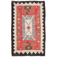 19th Century Navajo Indian Storm Pattern Weaving