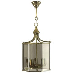 Chic Neoclassical Smoked Glass Lantern