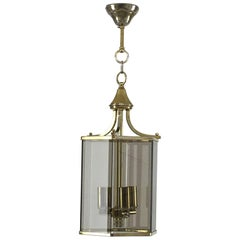 Neoclassical Chic Smoked Glass Lantern