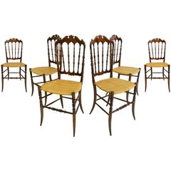 Six Elegant Chairs Model Chiavarina