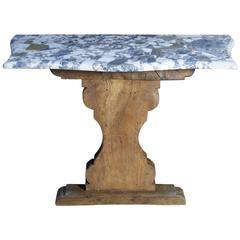 Marble-Topped Console Table