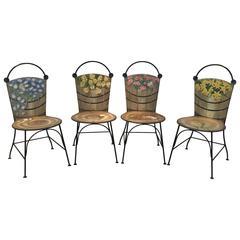 "John Vesey Rare ""Basket"" Chairs"