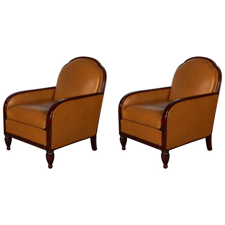 French Art Deco Armchairs For Sale
