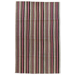 """Jajim"" Rug with Pink Stripes"