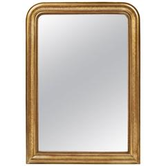 19th Century French Louis Philippe Period Gold Mirror