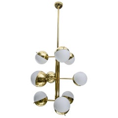 Brass Suspensions with Half Glass Globes