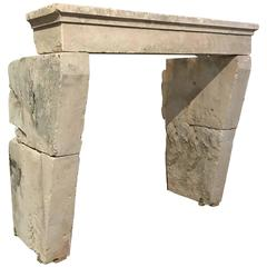 Antique Limestone Mantel, circa 1750