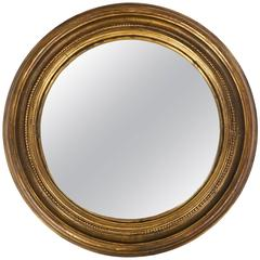 Antique French Louis XVI Style Convex Mirror