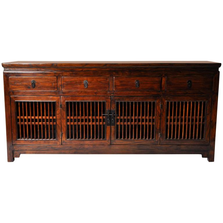 Chinese spindle door cabinet with restoration at 1stdibs for Chinese furniture restoration