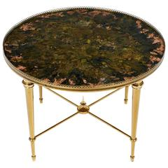 French Vintage Maison Ramsay Brass Side Table
