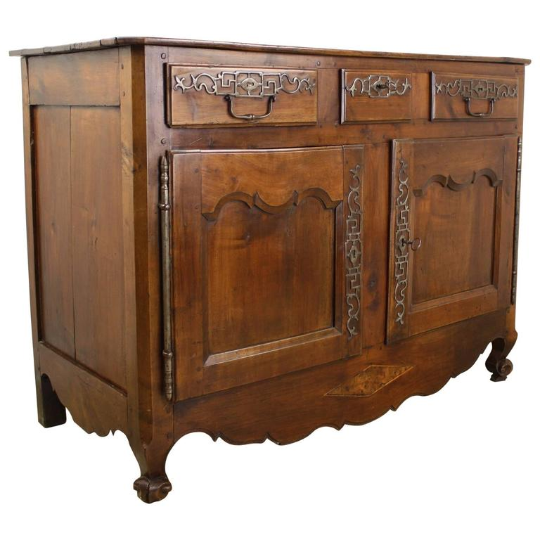 Exceptional Antique Cherry Snail Foot Buffet For Sale - Exceptional Antique Cherry Snail Foot Buffet For Sale At 1stdibs