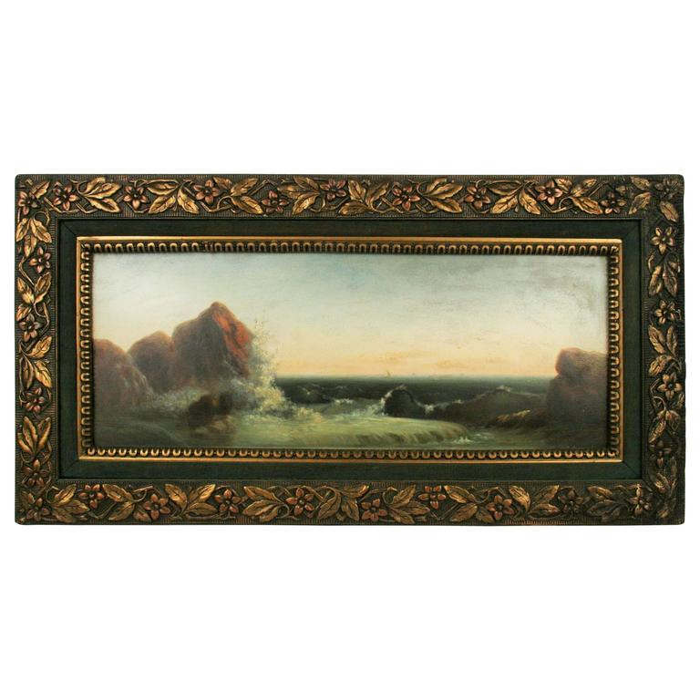 Seascape Oil Painting, circa 1920s For Sale