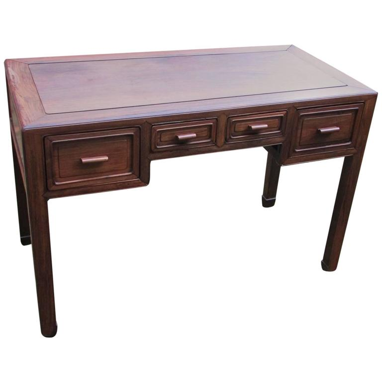 Antique chinese ming style hardwood desk for sale at 1stdibs for Asian style desk