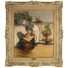 "Impressionist Painting ""Laundryday"" by Lino Muzzin"