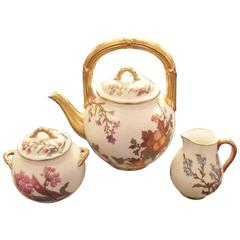 Antique English Hand-Painted Tea Set