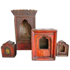 Rare Collection of 19th Century Tibetan Reliqueries
