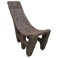 Late 19th Century African Studded Chair