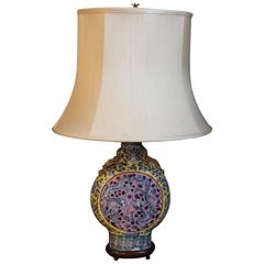 Antique Chinese Export Moon Vase Now as a Lamp