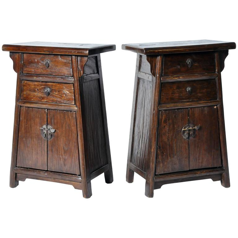Pair of chinese bed side chests with restoration for sale for Chinese furniture restoration