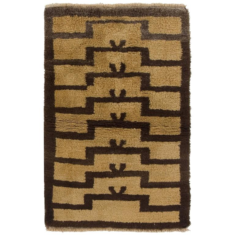 Vintage Turkish Tulu Rug with Ascending Arches