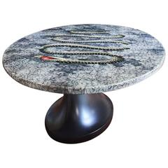 1950s italian fornasetti center table with neoclassical for Table originale