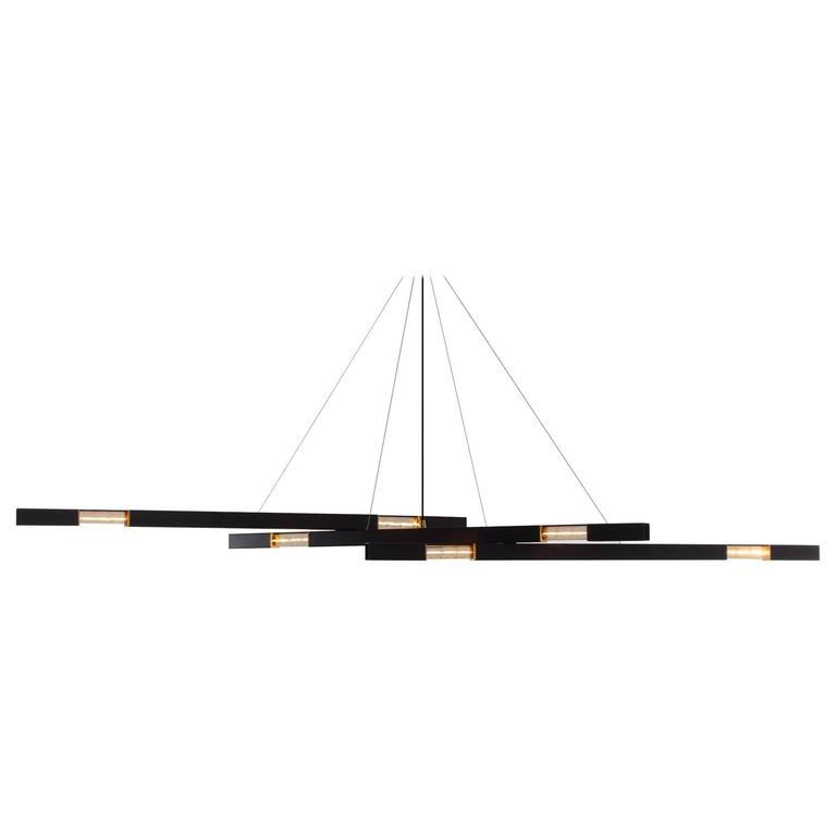 Large Contemporary Modern Chandelier with Brass Details ...