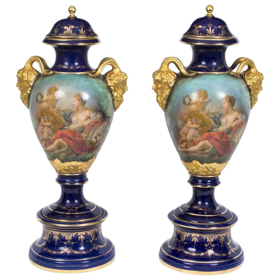 Pair of french sevres style louis xiv porcelain vases at 1stdibs reviewsmspy