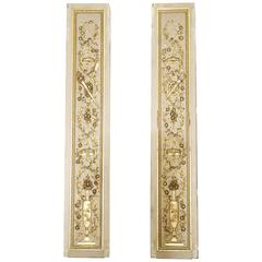 Carved and Gilt Pilasters