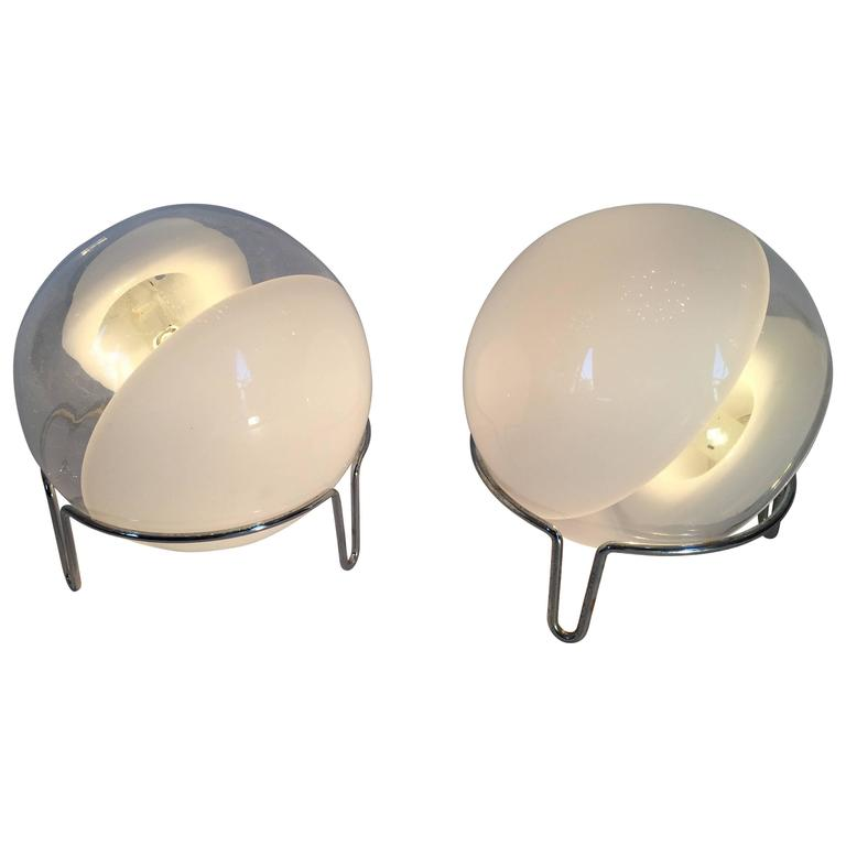 Pair of Lamps by Angelo Mangiarotti for Skipper, Italy, 1980s