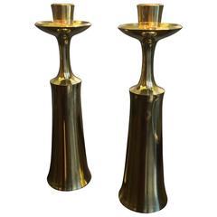 Jens H. Quistgaard Brass Candleholders