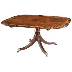 Superb George III Sheraton Period Rosewood Breakfast Table