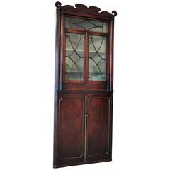 18th Century Corner Cupboard in Mahogany