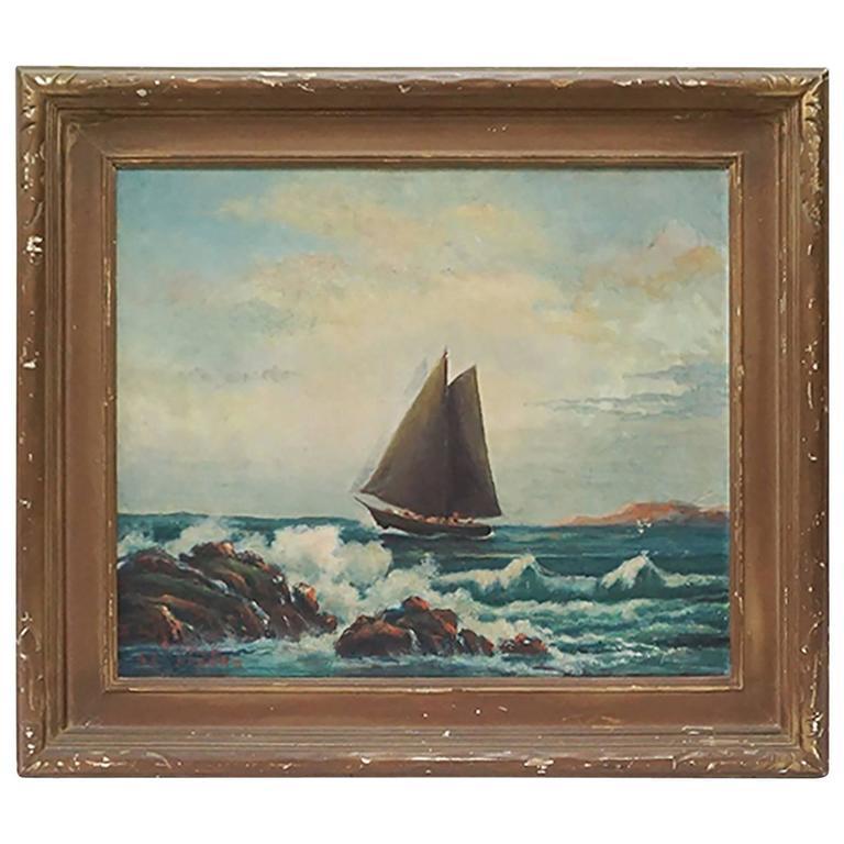 1942 Alfred Aarons Sailboat Painting At 1stdibs