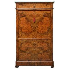 Exceptional Continental Burr Walnut Secretaire