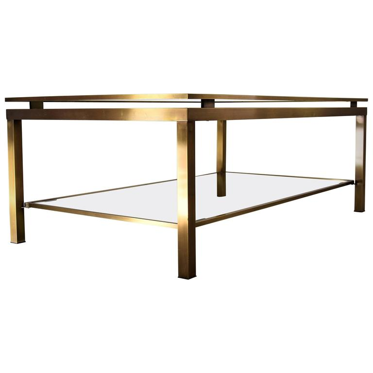 Brass Maison Jansen 1970s Two Tier Coffee Table At 1stdibs