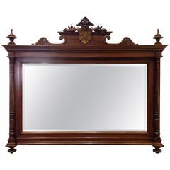 George IV Period Walnut Mirror