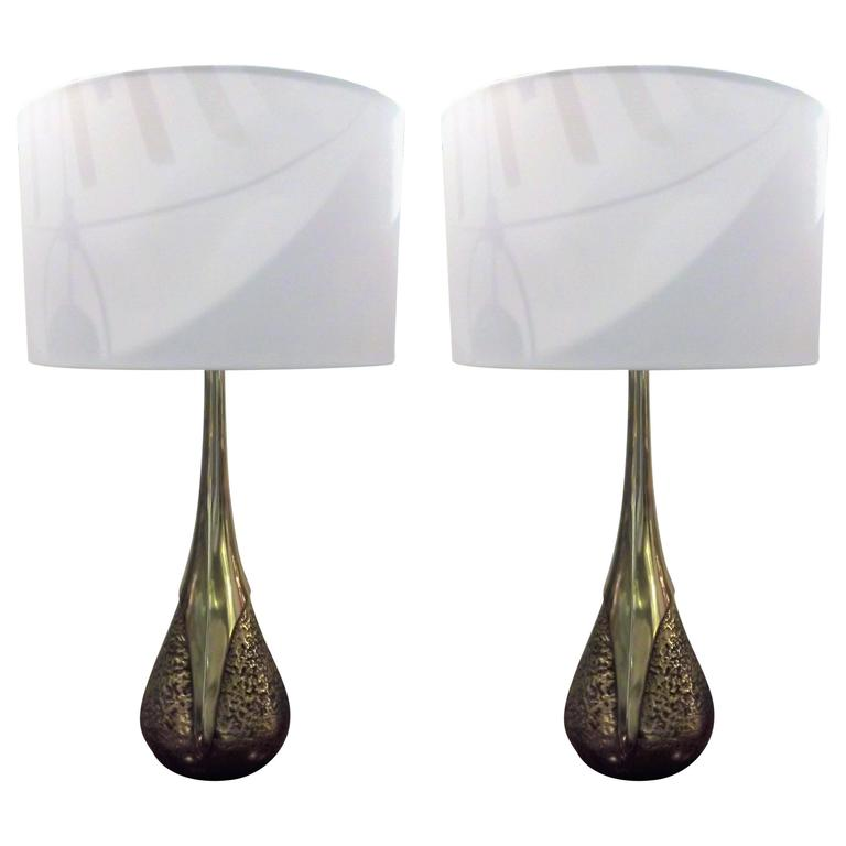 Pair of Maurizio Tempestini Lamps by Laurel Lamps Co