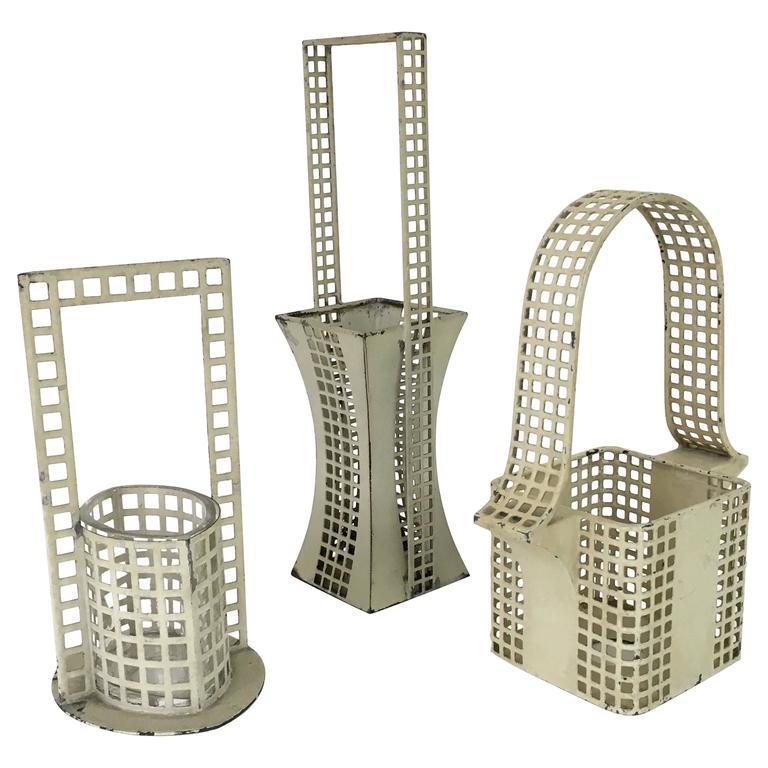"Set of Three ""Glitterwerk"" Baskets Josef Hoffman for Wiener Werksatte 1"