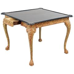 William Switzer Gilt Wood Card Table